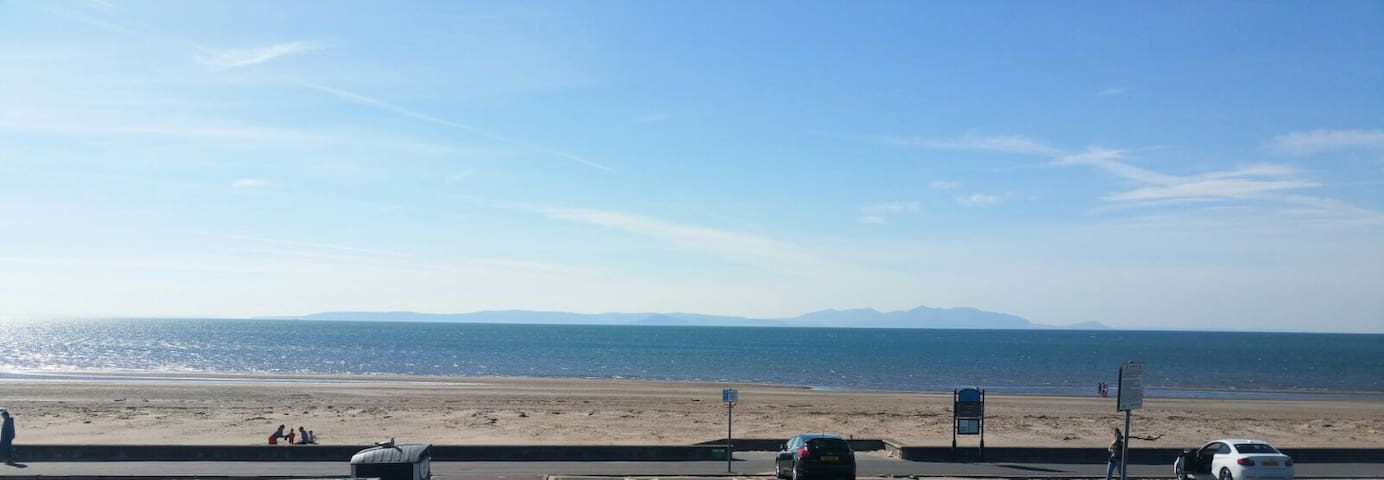 Large family home on seafront,  peaceful location.