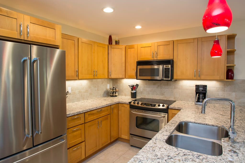 Your newly renovated kitchen. Cook a gourmet dinner or mix a maitai!