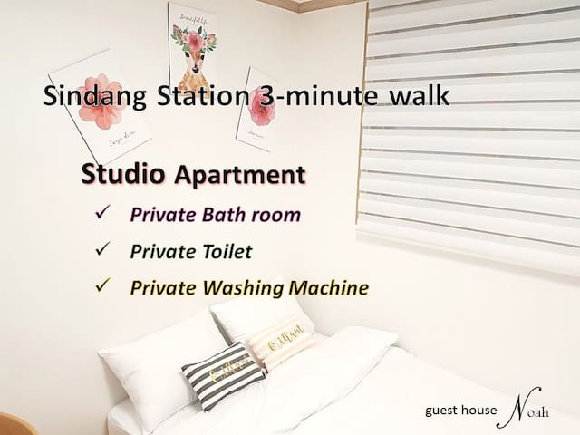 Noah #1 Shindang-st. 3min walk / studio apartment