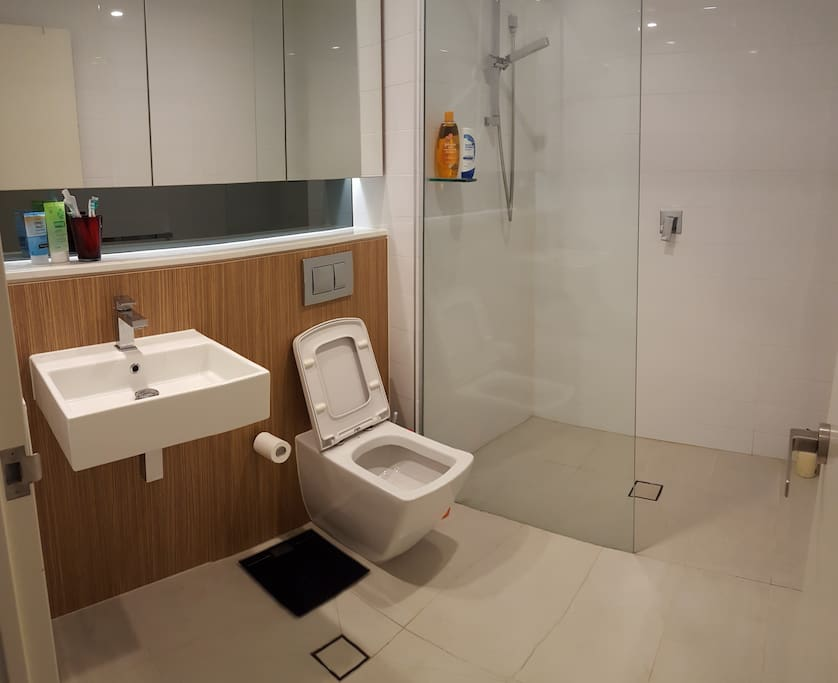 Your private ensuite shower