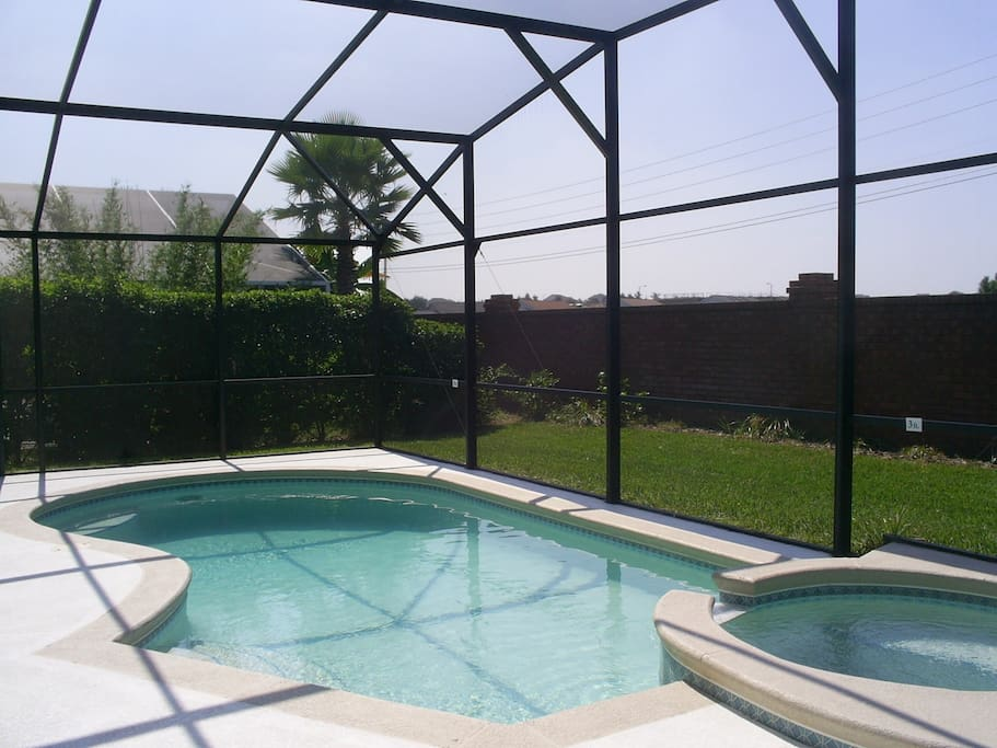 Private screened in pool and spa