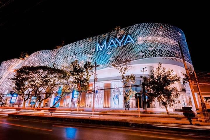 5 minutes walks from our place to Maya shopping mall.