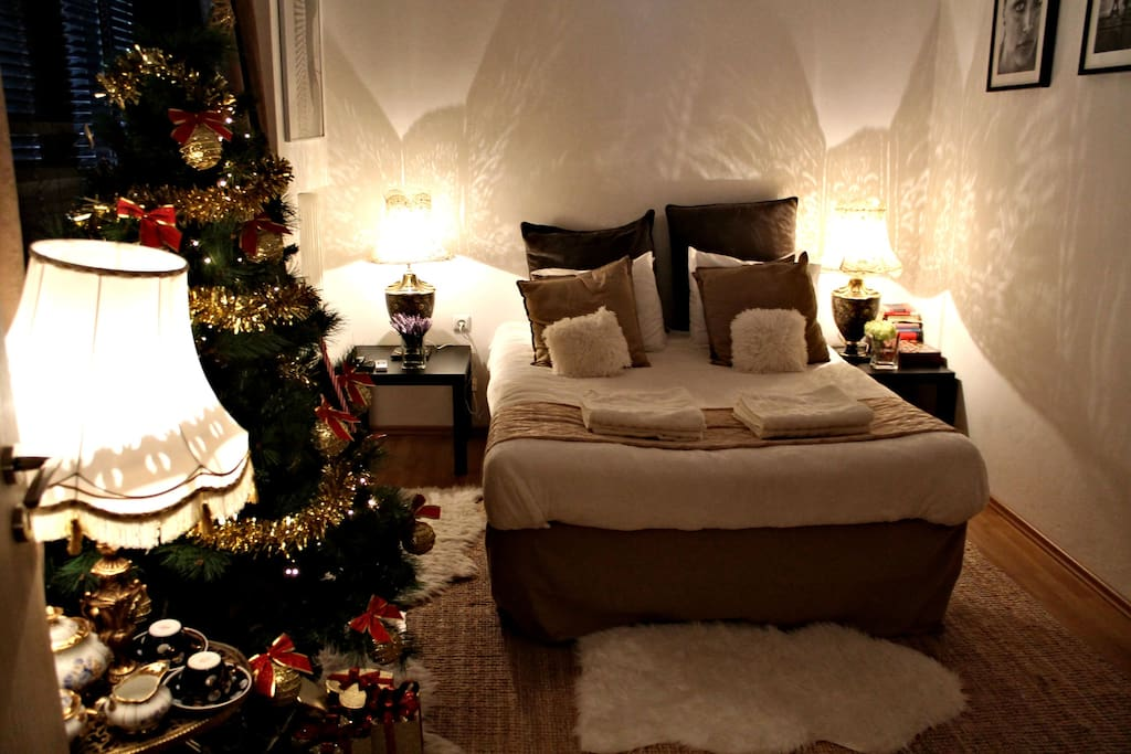 The studio in the winter time. Christmas decoration from 15th of November till 6th of January!
