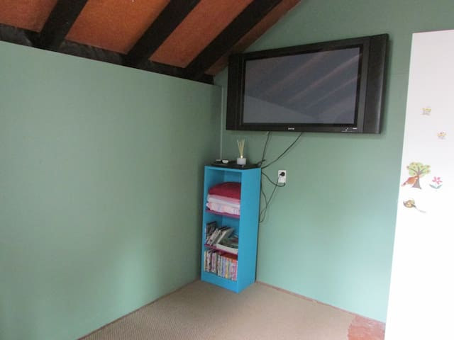 Bedroom 2 with fold down sofabed & tv for dvd viewing