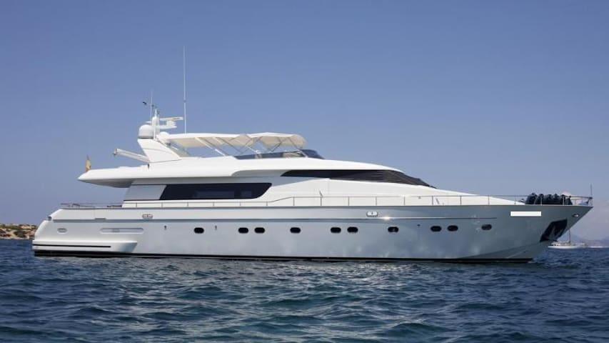 Modern Luxury Yacht in Barcelona