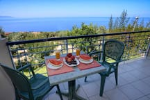 Balcony Sea View All balconies overlook the vastness of the Ionian Sea and the island of Zante.