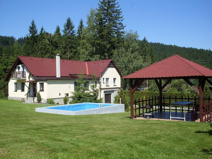 House for 12 pers with pool in Ostružno R5762