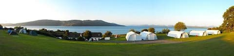 Shieling Holidays Mull, choose from our self-catering Shieling Tents and ultra basic Budget-bed options.