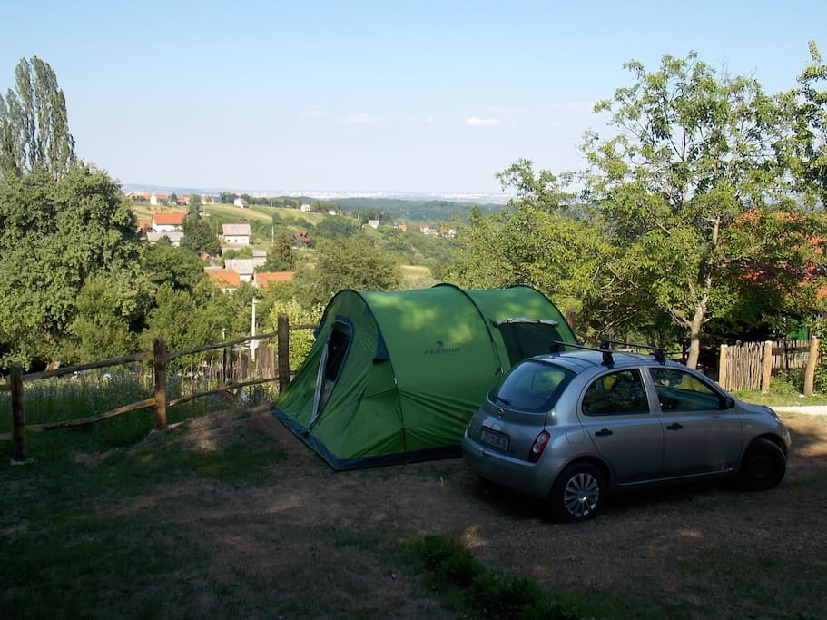 Pogled na kamp mjesto