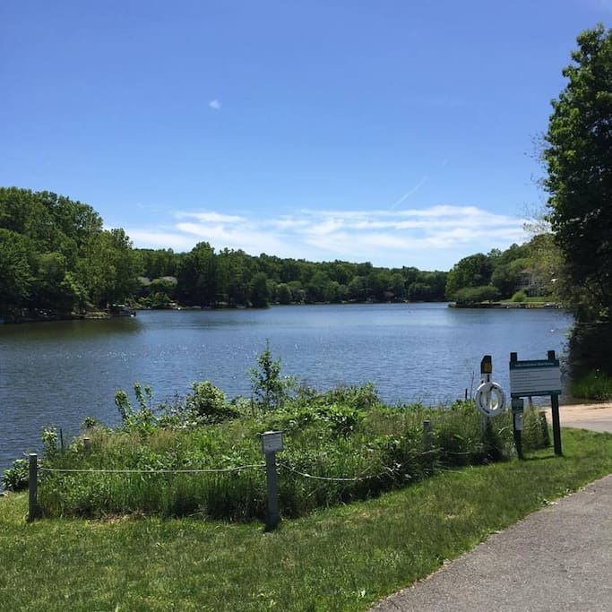 Walk around the many lakes and trails in Reston