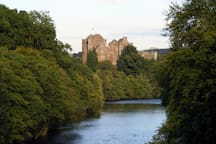 "Doune Castle, a historic castle only two miles from Milton of Cambus Farm. A must for fans of the popular ""Outlander"" film series."