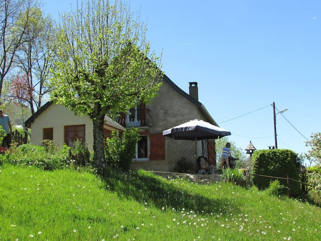 Cosy cottage with big garden and several terasses. - Massat