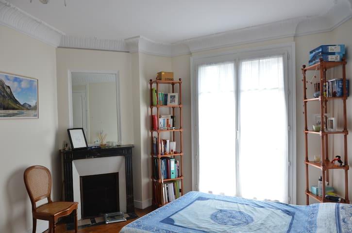 Bright apartment close to metro - Paris - Apartemen