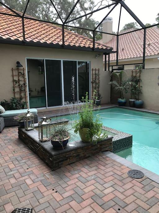 Courtyard pool