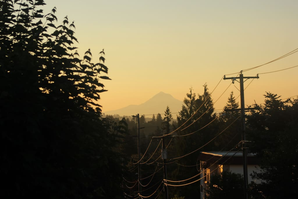 Mt Hood from the front yard