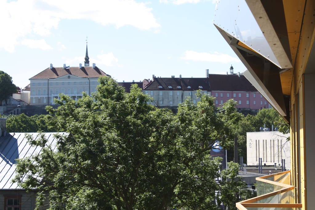 Enjoy the fantastic view of the Old Town from the comfort of your bed or while having coffee on the balcony.