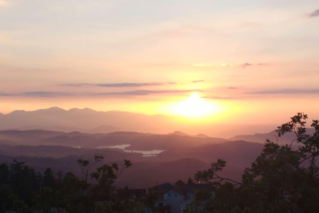 Sunset over Lake Arrowhead