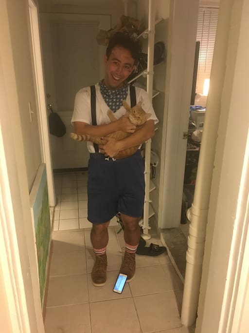 Bennett in Halloween with Chester