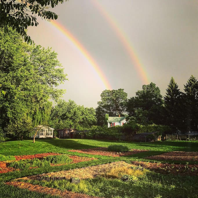 Yes a double rainbow that's how great this farm is!