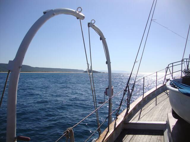 Alojamiento en un velero clásico