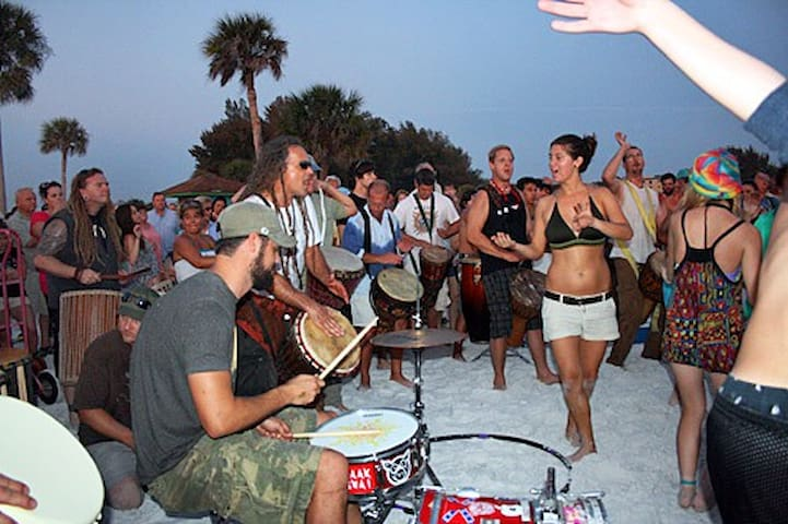 Siesta Beach Drum Circle - every Sunday evening
