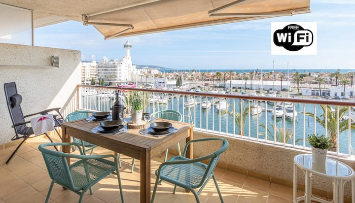 0162-PORT GREC Apartment with sea and canal view