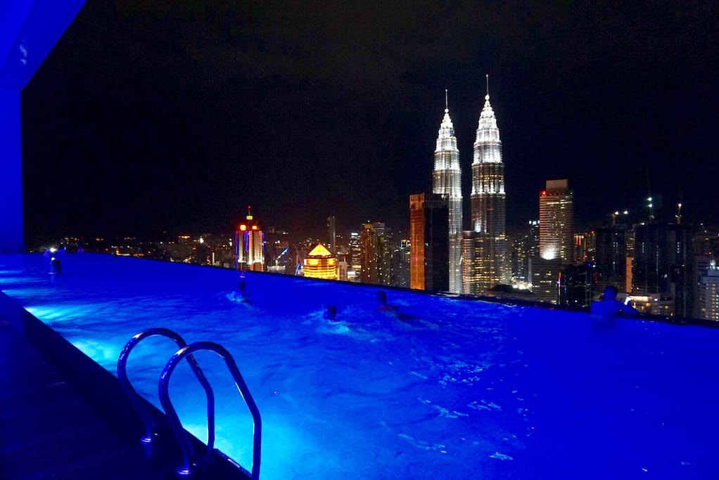 Magnificent Infinity Sky Pool. One of the best views in KL city.
