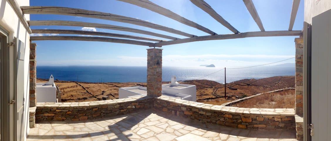 Thymari House - Endless alluring Aegean view - Kea Kithnos - Huis