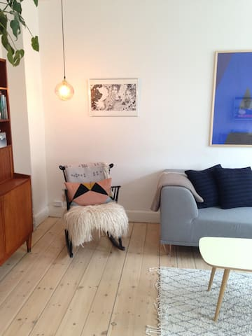 Lovely and bright flat with balcony in Nørrebro - Copenhague - Departamento