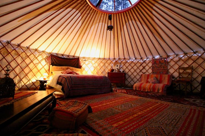 Yurt @ La Taillede, peaceful Pyrenean hill farm