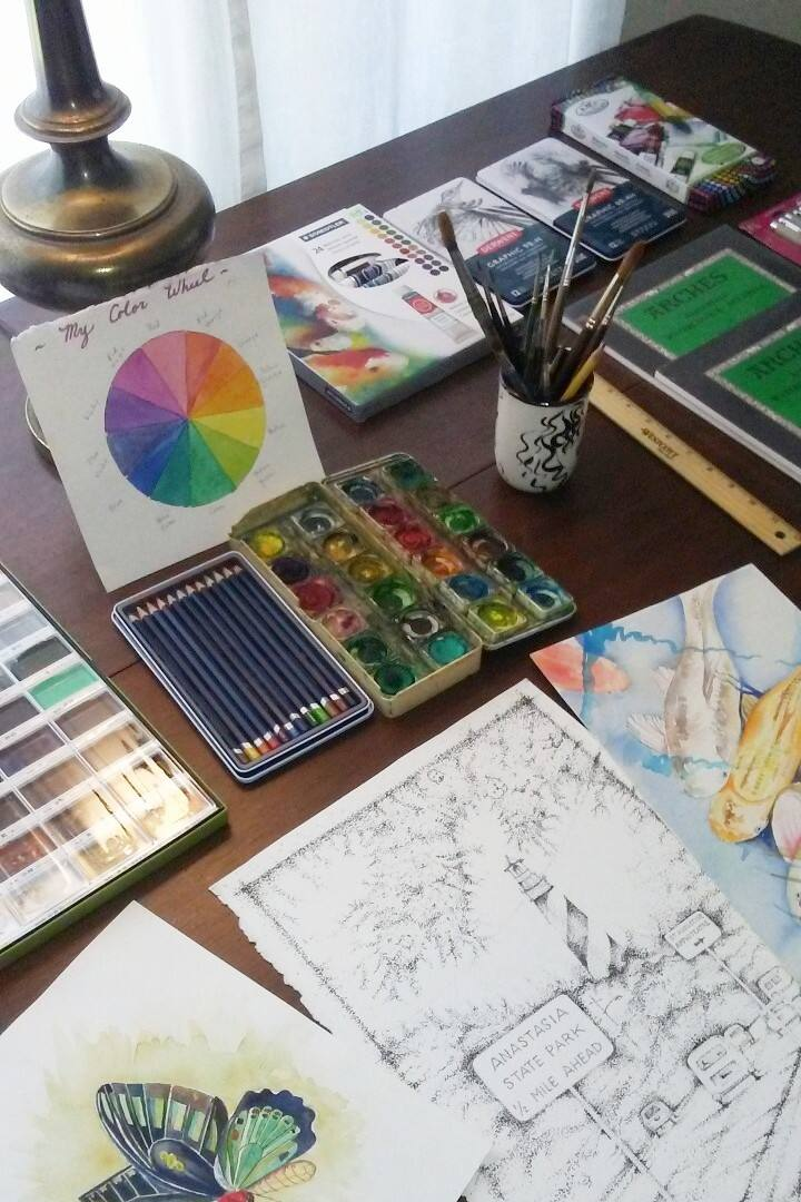 Create with watercolors.