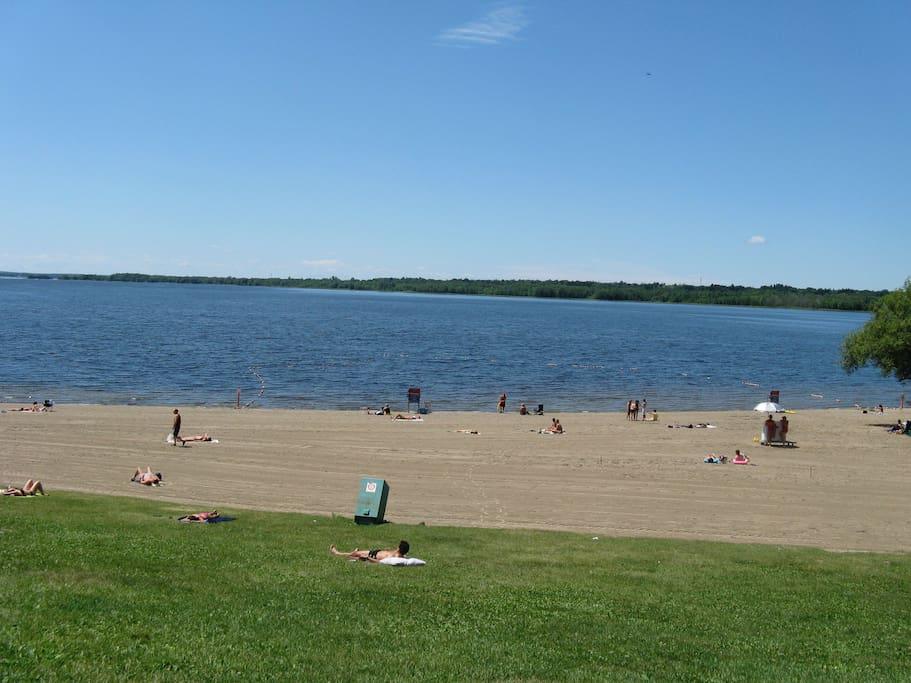 Britannia Beach is 10 min walk