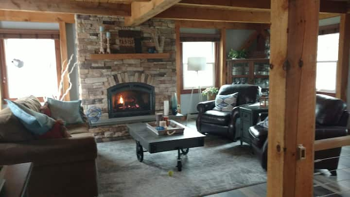 Finger Lakes Post and Beam Home with Hot Tub
