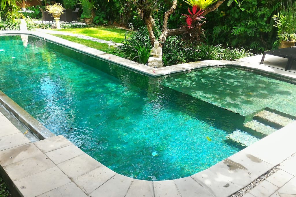 Private L Shaped Pool with children section