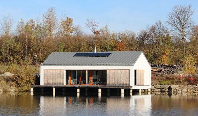House above water