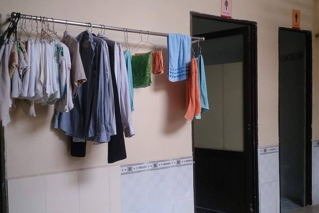 Bath room and toilet, Laundry place