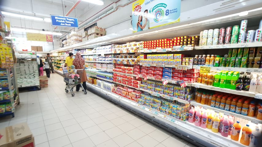 ZEMART local store, wide range of living essentials, food and beverages, only 5 minutes drive from the guesthouse