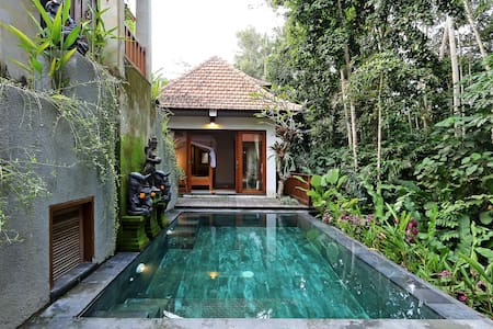 amazing ubud 1BR villa ~ricefield~jungle~pool