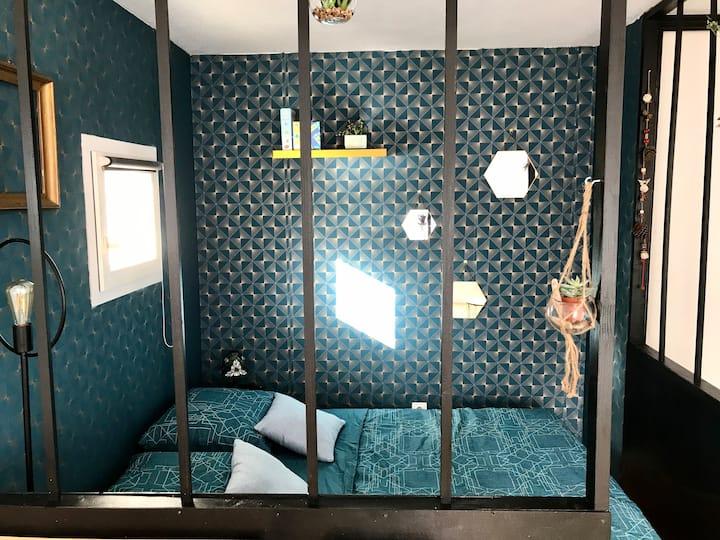 Agréable studio avec espace chambre,Gare/VieuxPort
