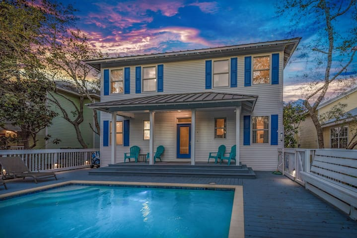 Gorgeous 6BR, 3 Min Walk To Beach,  Private pool.