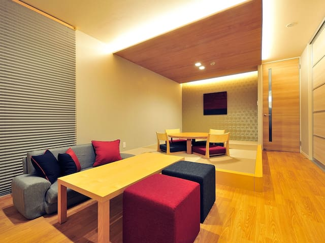 40㎡ large space!max.3 guests◆Japanese Modern