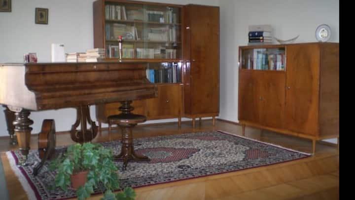 Piano Room & Garden in Saxon villa
