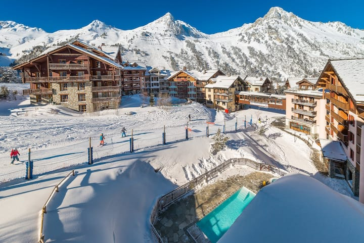 FRENCH ALPS LES ARCS 1950 ski in/out,swimming-pool