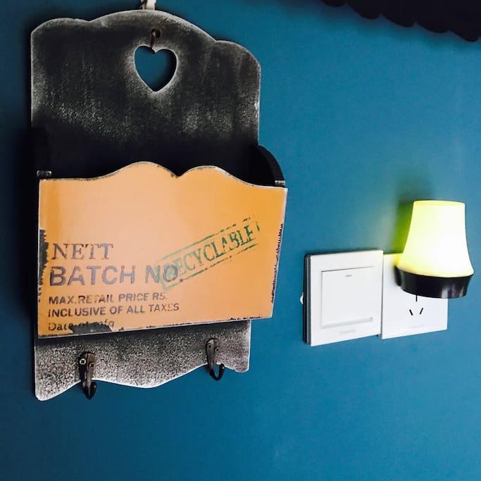 置物篮&小夜灯