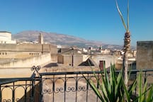 vue terrasse sur le mont zalagh / view from the rooftop on the mount Zalagh