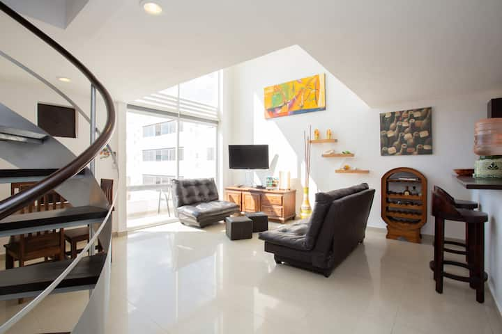 loft 2bd  terrace  jacuzzi few steps to 5th avenue