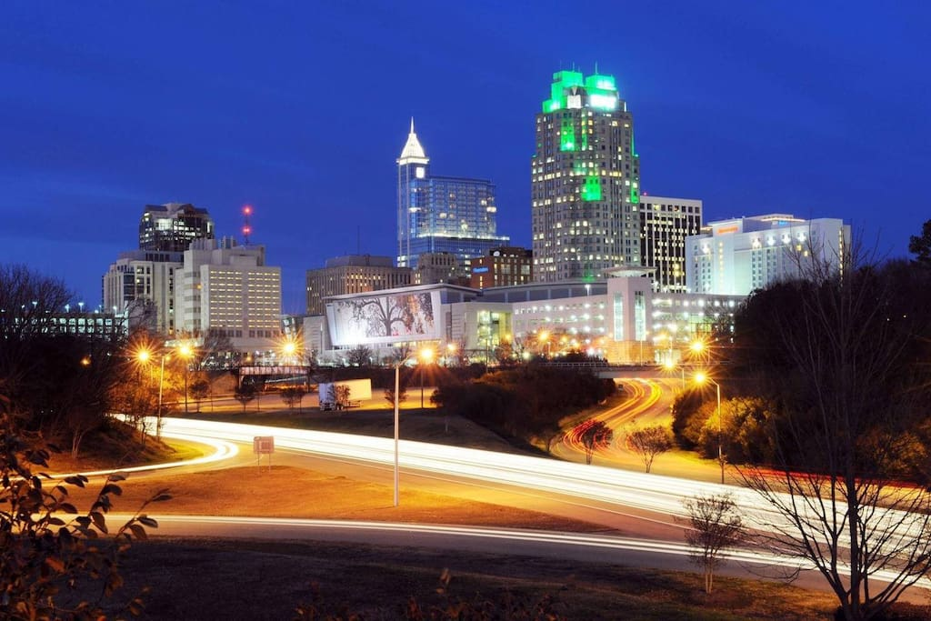 Beautiful view Downtown Raleigh