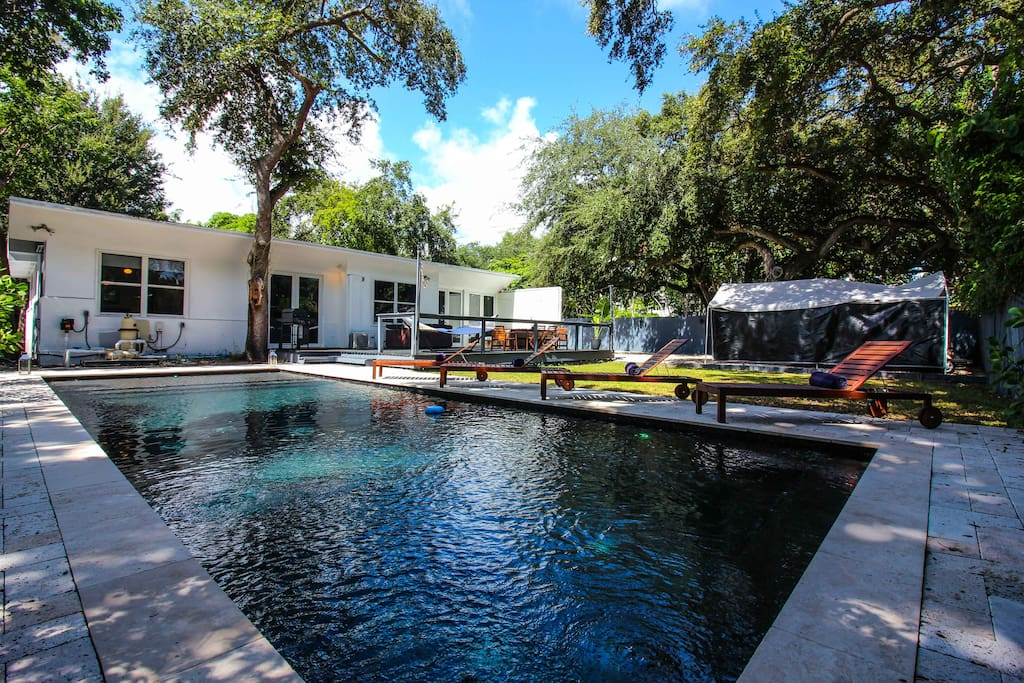 The backyard: a perfect mix of sun and shade