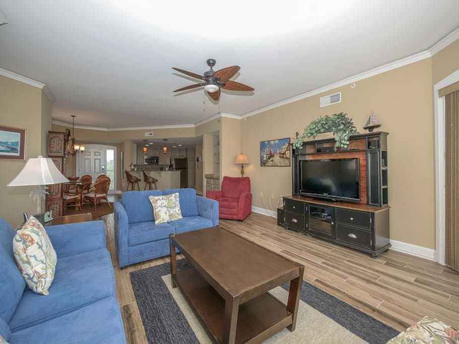 Living Room with Ocean Views at 4505 Windsor Court North