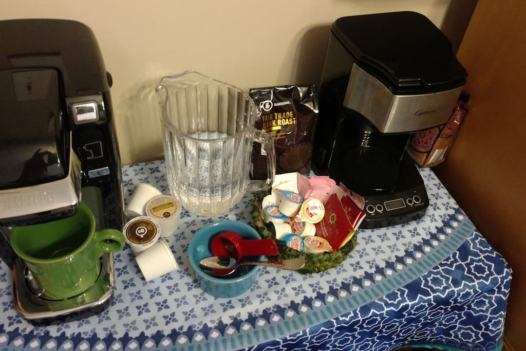 Coffee/tea service in your room! FAIR TRADE coffee